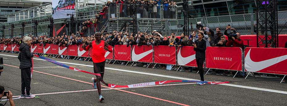 Nike celebra los resultados de Breaking2